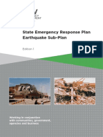 State Emergency Response Plan - Earthquake Sub-plan - Edition 1