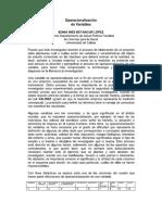 Operacionalización de Variables - Problemas Del Operacionalismo