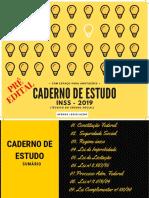 Caderno de Estudo - InSS 2019 - Degustação