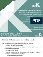 Contingencias y Metacontingencias 2011-I