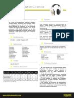 FICHA TECNICA Protector Auditivo Tipo Fono