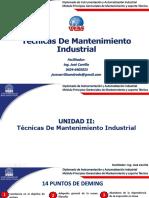 Presentación de técnicas de mantenimiento industrial