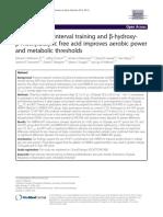 Treinamento intervalado de alta intensidade e ácido livre de β-hidroxi-β metilbutirico melhora a capacidade aeróbica e limiares metabólicos