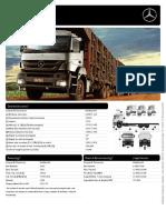 Especificações técnicas - MB Axor - Plataforma - 3344
