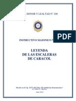 INSTRUCTIVO MASONICO N° 1- II GRADO- LEYENDA ESC CARACOL