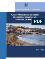 6214 Plan de Prevencion y Reduccion Del Riesgo de Desastres Del Distrito de Pacasmayo 2019 2021