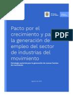 Pacto Por El Crecimiento y Para La Generación de Empleo Del Sector - Movimiento