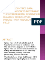 Rock Petrophysics Data Interpretation to Determine the Hydrocarbon