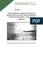 Memoria Descriptiva Nuevo Horizonte