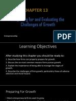 Entrepreneurship - Ch13- Reasons for Growth