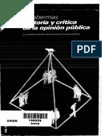 Habermas Historia y Critica de La Opinion Publica