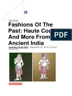 Fashions of the Past Haute Couture and More From Ancient India