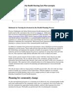 Community Health Nursing Care Plan Model (1)