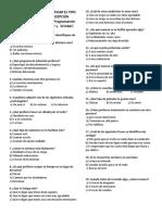 Cuestionario Para Identificar El Tipo de Inteligencia de Percepción Dominante Modelo Pnl