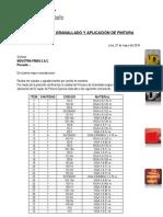 CERTIFICADO DE GRANALLADO Y PINTURA