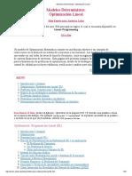 Modelos Deterministas_ Optimización Lineal