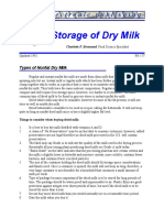 Storage of Dry Milk