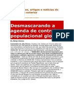 Desmascarando a Agenda de Controle Populacional Global
