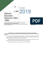 Línea de Tiempo del Sistema Educativo Argentino