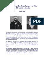Blavatsky y el Rito Mizraím