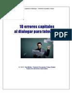 10 Errores capitales al dialogar para televisión-Valentín Fernández Tubau