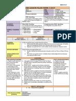 English Lesson Plan Form 3 2019