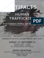 Artifacts of Human Trafficking Poster