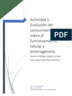 Funcionamiento Celular Embriogenesis