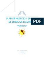 Plan de Negocio Empresa Servicio Electricos PROYECTA.
