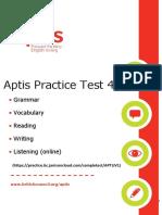 Full Aptis Practice Test 4