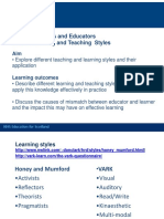 Training Educators