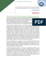 ETICA Y DEONTOLOGIA DE LA INTERVENCION PSICOSOCIAL
