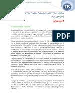 ETICA Y DEONTOLOGIA DE LA I PSICOSOCIAL