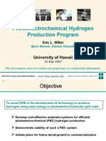 Photoelectrochemical Hydrogen Production Program