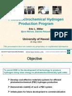 Photoelectrochemical Hydrogen Production Program