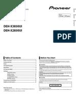 Deh-x2850ui Deh-x3850ui Operating Manual Ing - Esp - Por
