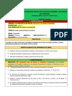 Formato Final y Modelo de Plan de Clase Nivel Preescolar.........2019