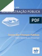 TEORIAS DAS FINANÇAS PÚBLICAS