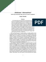 Medicinas Alternativas, Javier Garrido