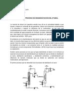 ANÁLISIS AL PROCESO DE DESHIDRATACIÓN DEL ETANOL