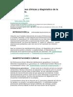 Manifestaciones clínicas y diagnóstico de la equinococosis(1)