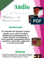 Vanadio Expocicion Meta Quimica