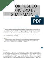 Sector Publico Financiero de Guatemala