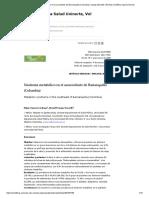 Síndrome Metabólico en el sur occidente de Barranquilla