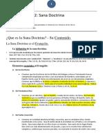 Escuela Dominical Adultos 2019 N2 Sana Doctrina Maestro