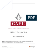 CAEL CE Sample Test Part 1
