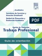 GuiaDeOrientacion  Titulación FaM UNAM