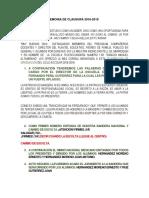 Programa de Ceremonia de Clausura 2019