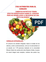 Alimentos Nutrientes Para El Corazón