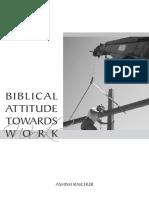 Biblical Attitude Towards Work
